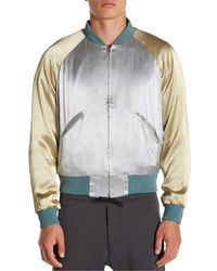 Y-3 - Blue Reversible Skajan Bomber Jacket for Men - Lyst