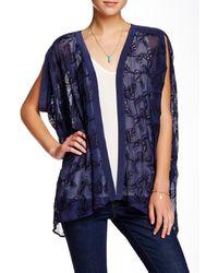 Gypsy 05   Blue Embroidered Silk Chiffon Kimono   Lyst