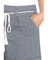 NYDJ - Blue Layla Belted Stretch Twill Short (plus Size) - Lyst