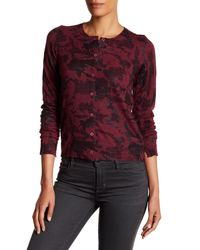 Zadig & Voltaire | Red Ninon Print Cashmere Cardigan | Lyst
