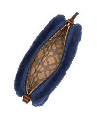 UGG - Blue Seldon Leather & Genuine Sheepskin Crossbody - Lyst