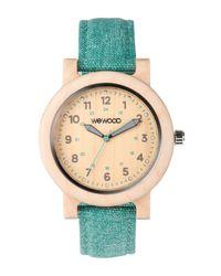 WeWood | Metallic Dehna Beige/cyan Women's Wood Watch | Lyst