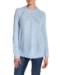 Joe Fresh | Blue Cable Knit Sweater | Lyst