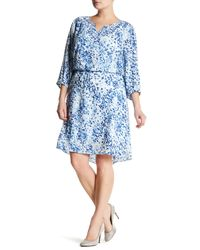 NYDJ - Blue Alexa Pleat Back Dress (plus Size) - Lyst