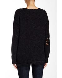 Wildfox Black After Party Distressed Sweater