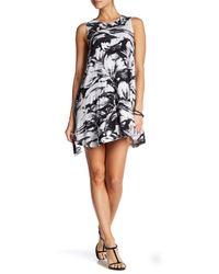 RVCA   White Sucker Punched Printed Swing Dress   Lyst