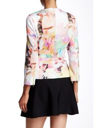 Ted Baker - Pink Saamsa Electric Day Dream Biker Jacket - Lyst