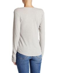 James Perse - Gray Jersey V-neck Tee - Lyst