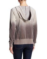 Pam & Gela | Gray V-neck Side Slit Hoodie | Lyst