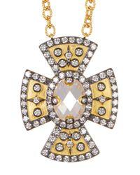 Freida Rothman   Metallic 14k Gold & Rhodium Plated Metropolitan Cz Pendant Necklace   Lyst