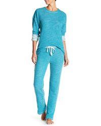 N Natori | Blue Two-tone Slub Knit Pant | Lyst