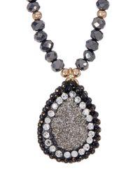 Panacea | Multicolor Luxe Beaded Teardrop Pendant Necklace | Lyst