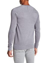 Helmut Lang - Gray Fine Wool Crew Neck Pullover for Men - Lyst