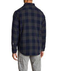 Tailor Vintage Blue Button Down Reversible Shirt for men