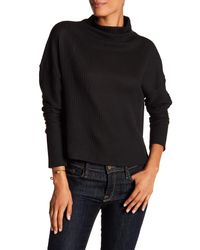 Laundry by Shelli Segal - Black Ribbed Mock Neck Sweater - Lyst