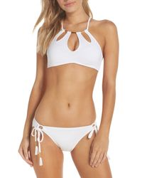 Robin Piccone | White Side Tie Bikini Bottoms | Lyst