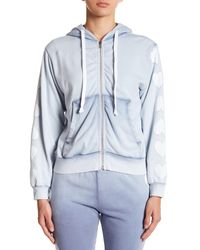 Wildfox Blue Heart Of Hearts Washed Zip-up Hoodie