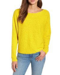 Caslon - Yellow Calson(r) Dolman Sleeve Sweater (regular & Petite) - Lyst