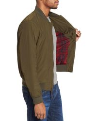 Woolrich - Green Shore Bomber Jacket for Men - Lyst