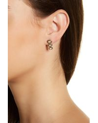 House of Harlow 1960 - Pink Tanta Crosshatch 3 Stone Earrings - Lyst