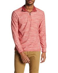 Road Apparel - Red Bretz Quarter Zip Pullover for Men - Lyst