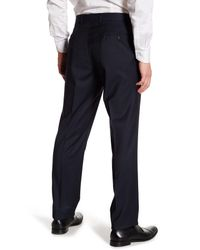Ted Baker - Black Trim Fit Flat Front Pants for Men - Lyst