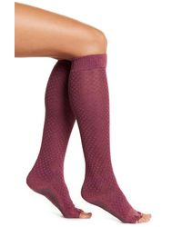 ToeSox - Red Scrunch Grip Half Toe Socks - Lyst