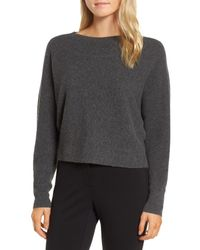 Nordstrom - Gray Dolman Sleeve Cashmere Sweater - Lyst