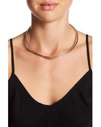 BCBGeneration - Multicolor Angular Collar Necklace - Lyst