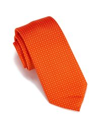 Perry Ellis - Orange Don Mini Dot Tie for Men - Lyst