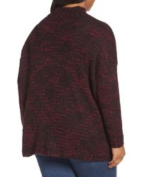 Sejour - Multicolor Mock Neck Knit Sweater (plus Size) - Lyst
