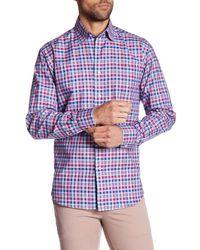 Robert Talbott - Blue 'crespi' Tailored Fit Check Sport Shirt for Men - Lyst