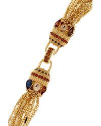 Carolee - Metallic Multi-strand Embellished Clasp Necklace - Lyst