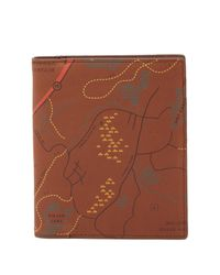 Fossil - Brown Nolan Leather Passport Case - Lyst