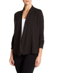Inhabit - Black Asymmetrical Cashmere Cardigan - Lyst