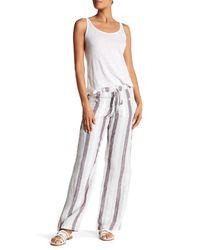 Allen Allen - Multicolor Linen Stripe 4-pocket Pants - Lyst