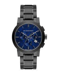 Burberry - Metallic Men's Chronograph Swiss Quartz Bracelet Watch, 42mm for Men - Lyst