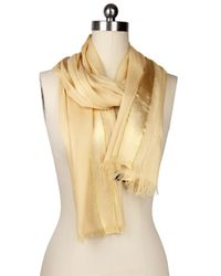Saachi | Natural Taupe Gold Trim Wrap | Lyst