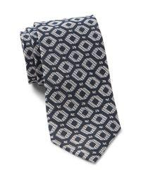 Ted Baker - Blue Diamond Geo Silk Tie for Men - Lyst