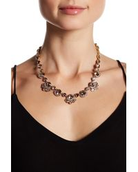 Givenchy - Metallic Crystal Accented Collar Necklace - Lyst