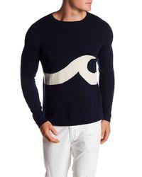 Surfside Supply - Blue Wave Cashmere Crew Neck Sweater for Men - Lyst