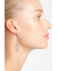 Halogen - Multicolor (r) Geo Linear Drop Earrings - Lyst