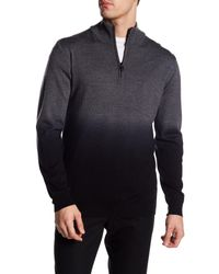 Bugatchi - Gray Dip Dye Wool Sweater for Men - Lyst