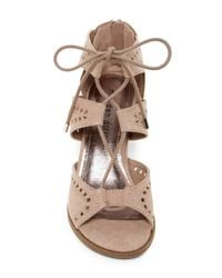 Madden Girl - Brown Rally Cutout Wedge Sandal - Lyst