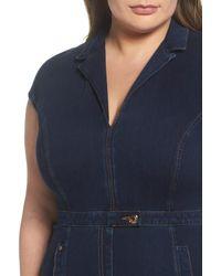 Marina Rinaldi - Darsen Jersey Denim Body-con Dress (navy Blue) (regular & Plus Size) - Lyst