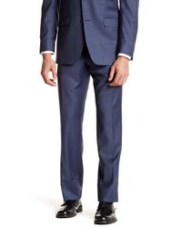 Ike Behar - Blue Sharkskin Two Button Notch Lapel Wool Suit for Men - Lyst