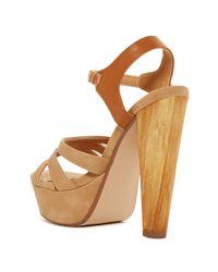 Elegant Footwear - Brown Lizeth Platform Sandal - Lyst