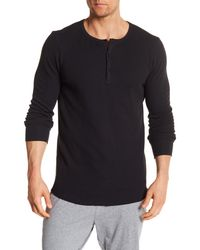 Unsimply Stitched - Black Long Sleeve Thermal Shirt for Men - Lyst