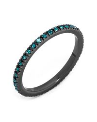 BaubleBar - Blue Glass Crystal Detail Eternity Ring - Lyst
