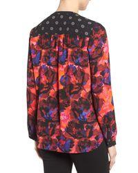 NYDJ - Multicolor Long Sleeve Mix Print Blouse - Lyst